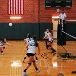Player hitting volleyball