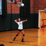 Player Serving the Ball