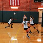Player Hitting a Volleyball