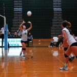 Player Sets Up Spike