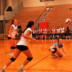 Player Dives for Ball