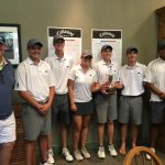 Hawks Golf Team with trophy