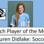 Lauren Didlake, March Athlete of the Month