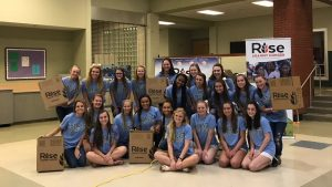 Cheer team at food drive