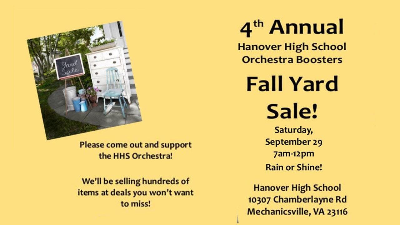 HHS Orchestra Annual Yard Sale