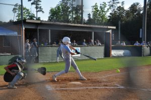 hitting the ball on line drive