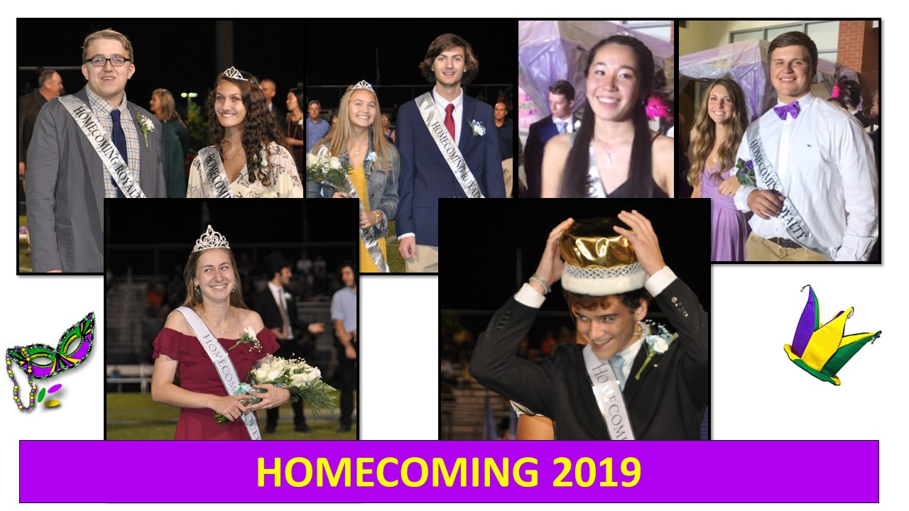 2019 Homecoming Queen and King, Princesses and Princes!