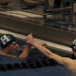 Boys 7th, Girls 20th at the State Swim Champs.  Sr Jack Hufner places 3rd in the 100 back