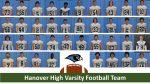 2021 Hanover Varsity Football Team