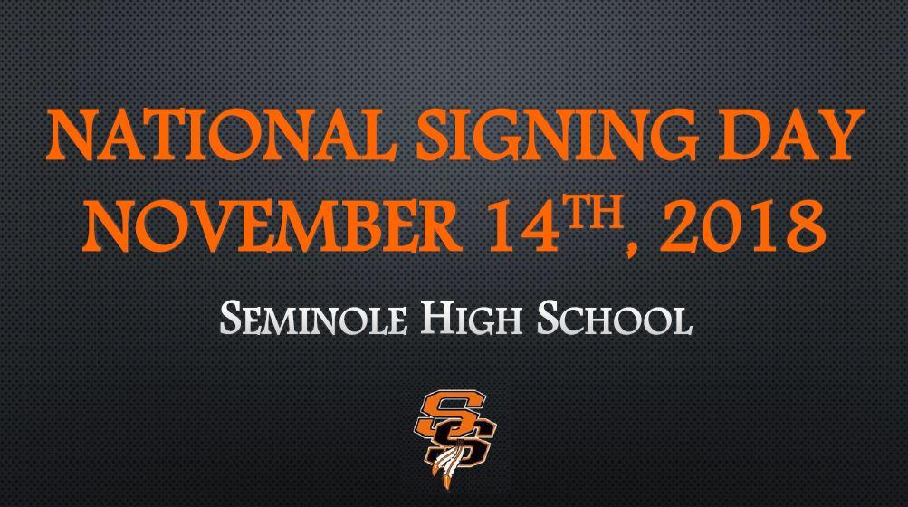 National Signing Day Nov. 14, 2018