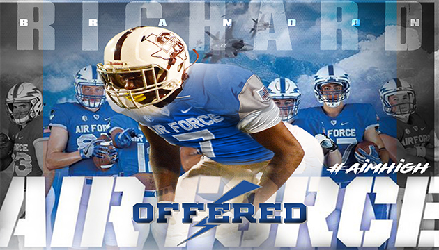 BRANDON RICHARD RECEIVES OFFER FROM AIR FORCE FOOTBALL!!