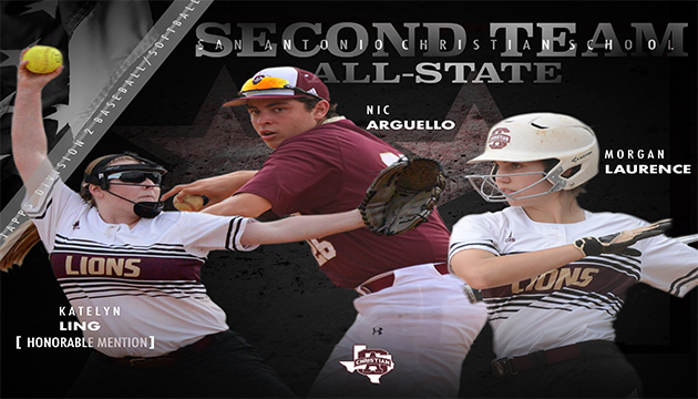 TAPPS Division 2 Second Team/Honorable Mention All State