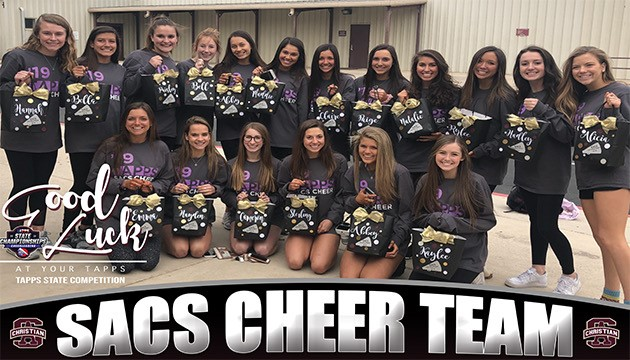 CHEERLEADERS COMPETE FOR STATE CHAMPIONSHIP!