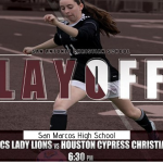 CHANGE OF VENUE TONIGHT! LADY LIONS SOCCER- SAN MARCOS HIGH SCHOOL