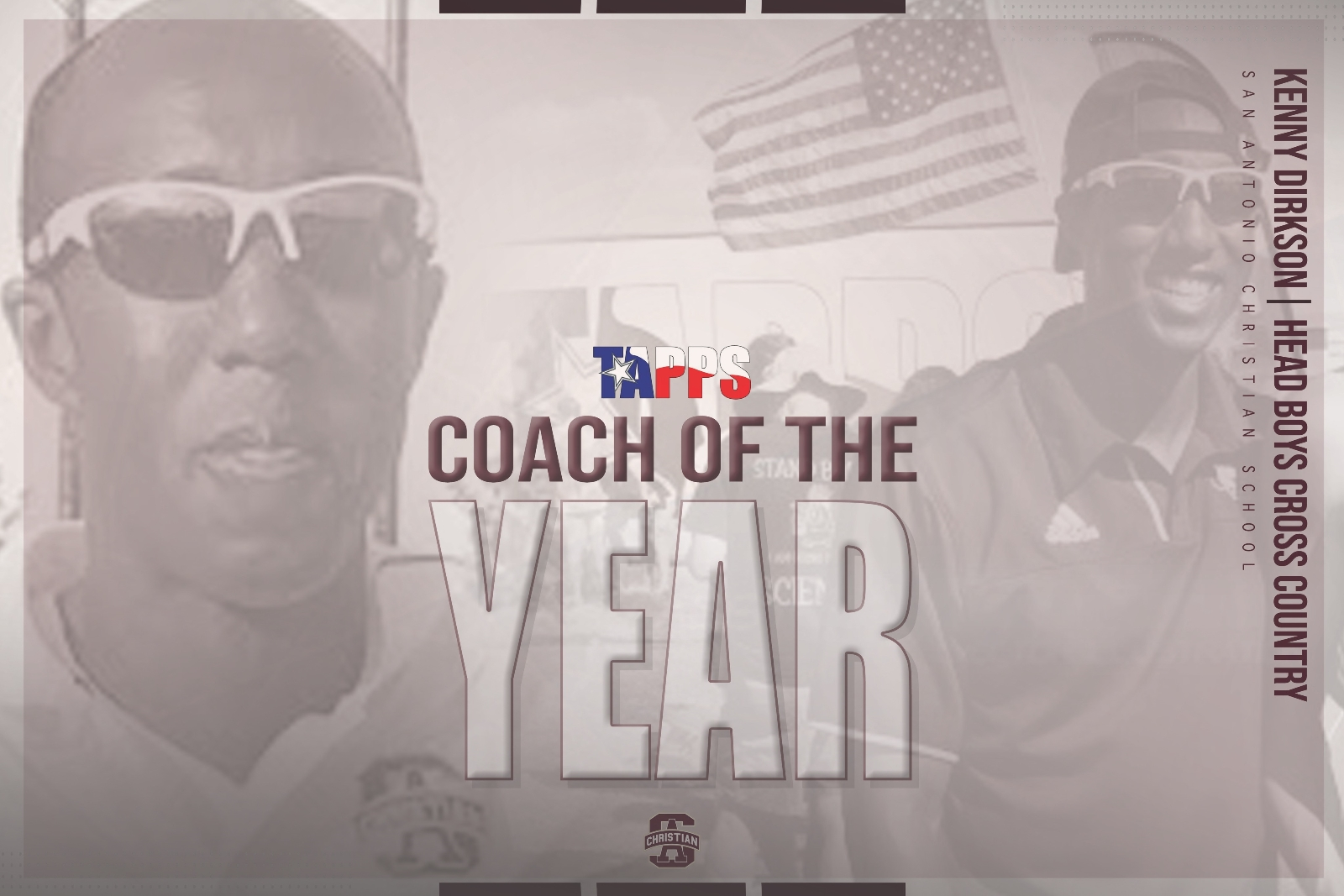 TAPPS MALE COACH OF THE YEAR- KENNY DIRKSON!