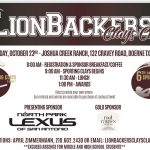 SIGN UP TODAY! LIONBACKERS CLAYS CLASSIC- OCTOBER 23