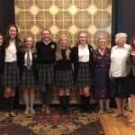Elms Pres and Dominican Sisters of Peace join Captains at First Friday!