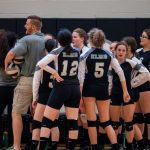 Our Lady Of The Elms High School Girls Varsity Volleyball beat Akron North 3-0
