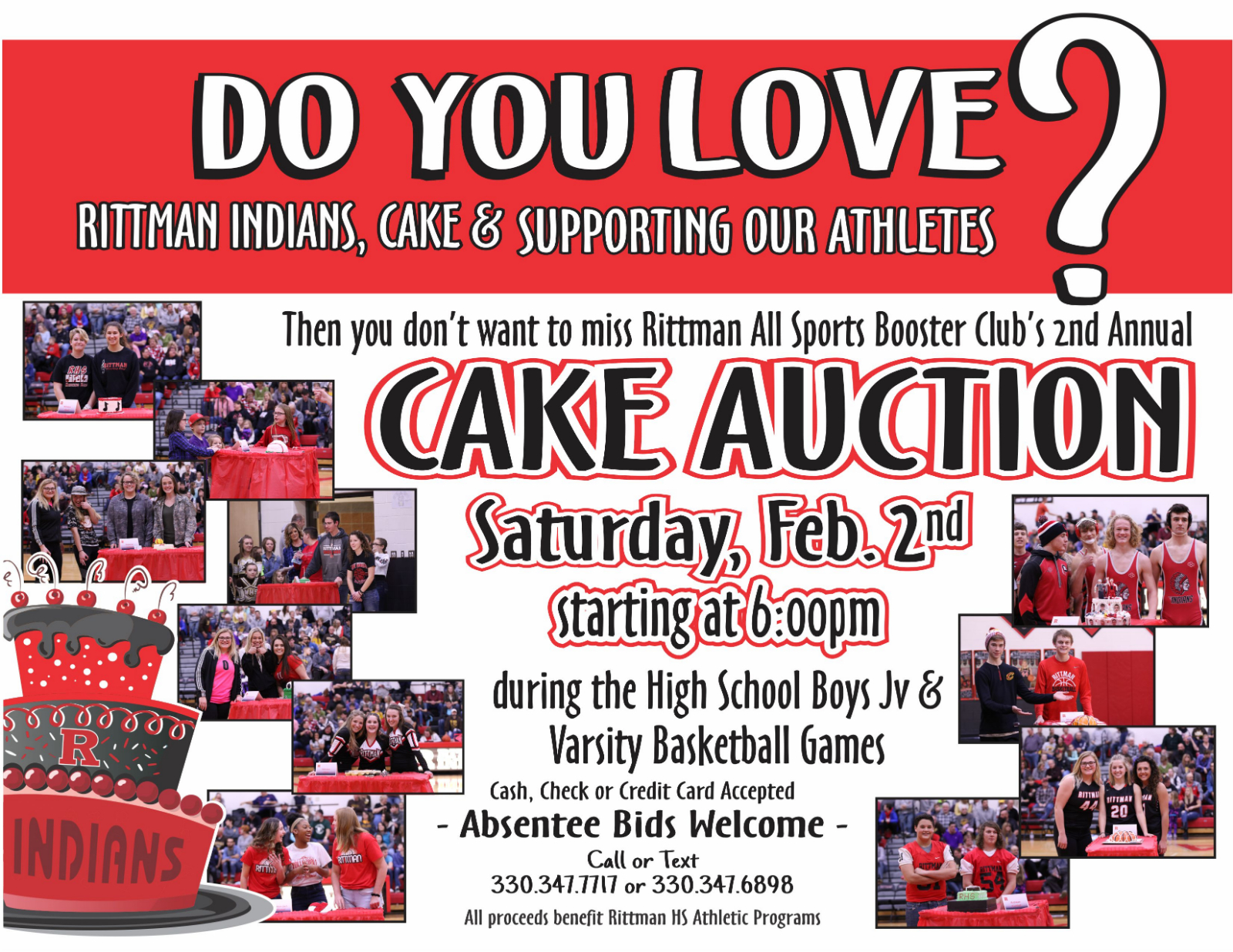 Rittman All Sports Boosters Cake Auction