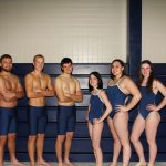 Girls Swimming beats South Park on Senior Night