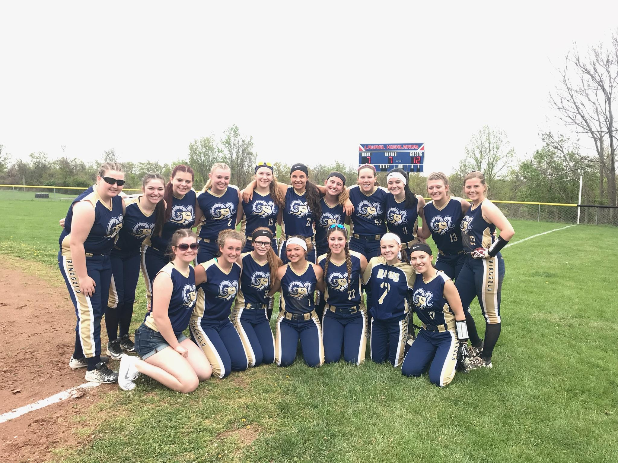 Softball rebounds to beat Laurel Highlands 12 – 7