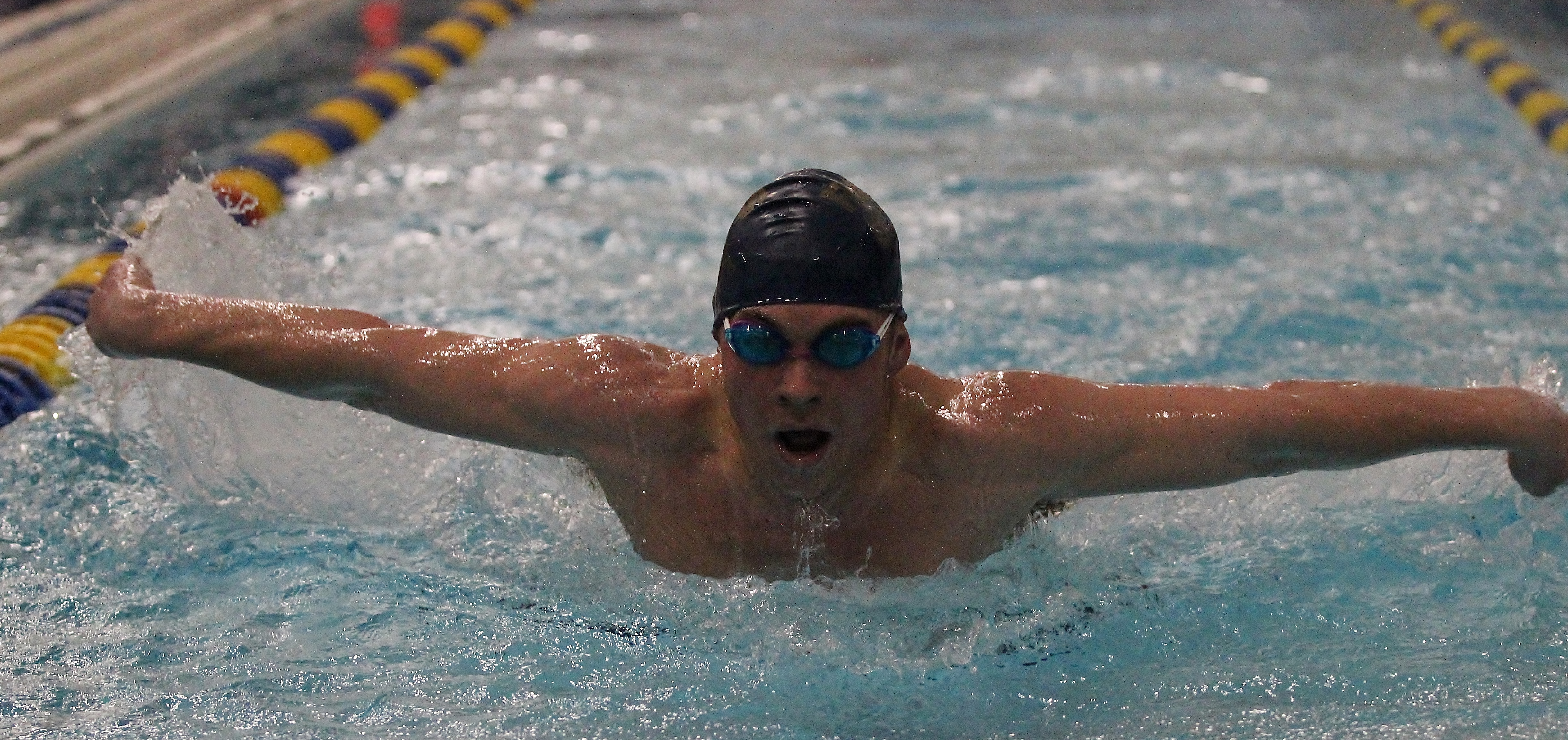 Boys Swimming barely falls to South Park on Senior Night