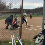 Middle School Softball drops back and forth game to Peters Township