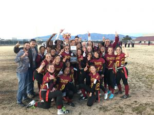 Flag Football Takes the State Title! 2.25.19