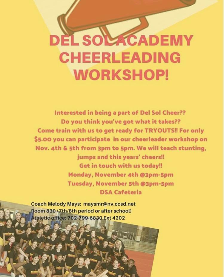 DSA Cheerleading Workshop!