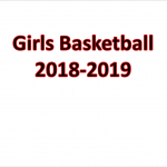 2018-2019 Girls Basketball