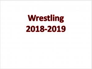 2018-2019 Wrestling