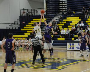 JV boys basketball vs. Hastings 2/10/15