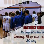 Varsity Boys District Semifinal Tonight