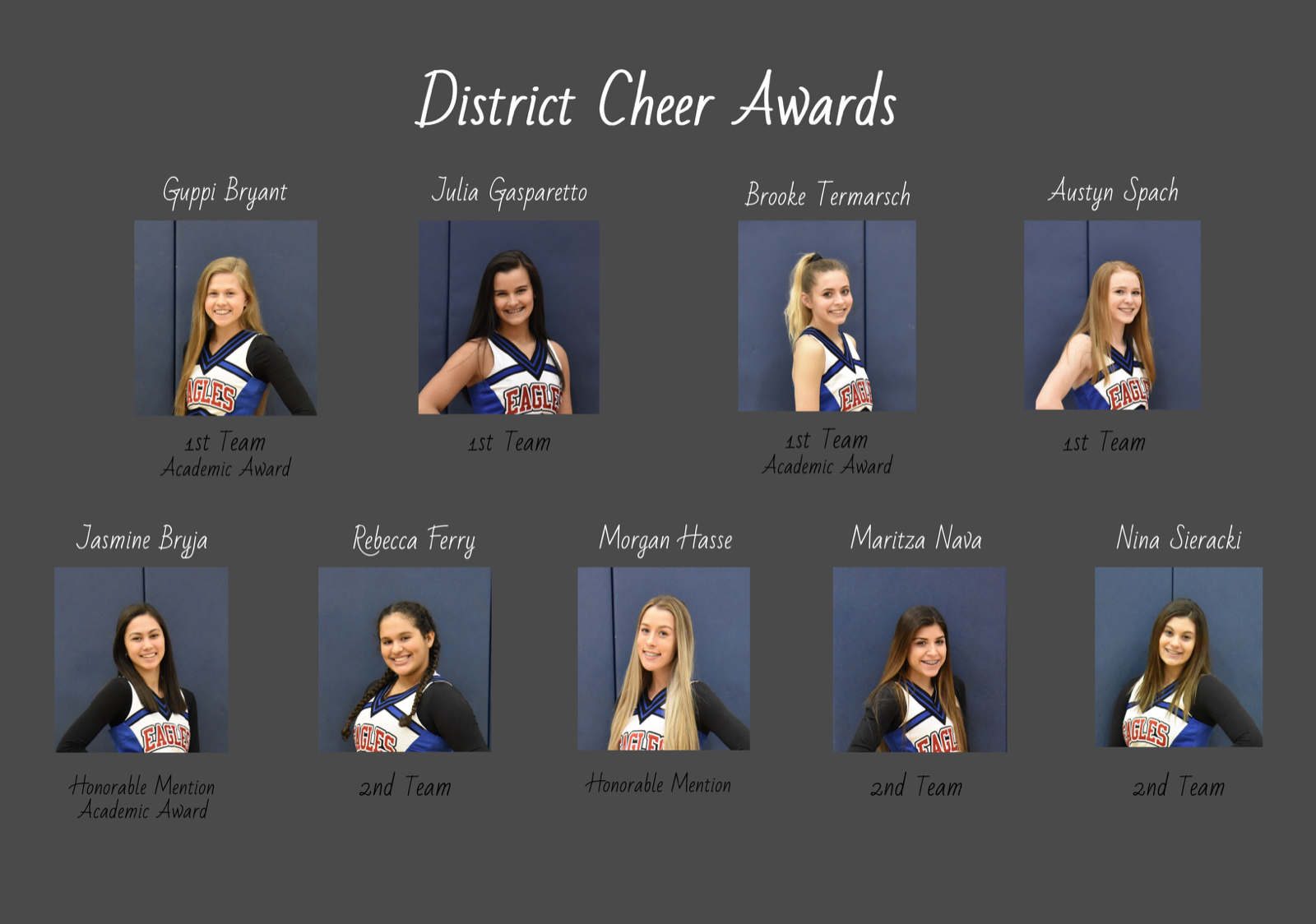 Cheer District Awards