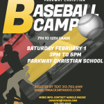 Parkway Christian Baseball Camp