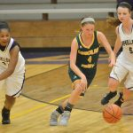 CHS girls' varsity basketball team battles Cumberland County