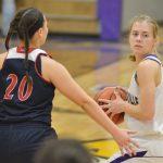 CHS girls' varsity basketball team battles Russell County
