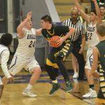 CHS boys' varsity basketball team battles Green County