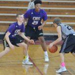 CHS boys' JV basketball team plays in district tournament