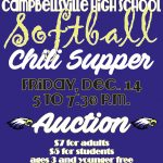 CHS softball team to host chili supper and auction