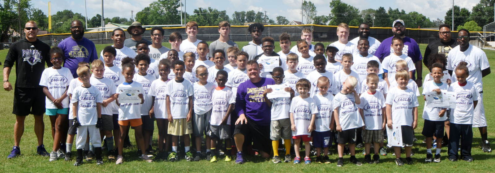 More than 40 participate in Eagle Youth Football Camp