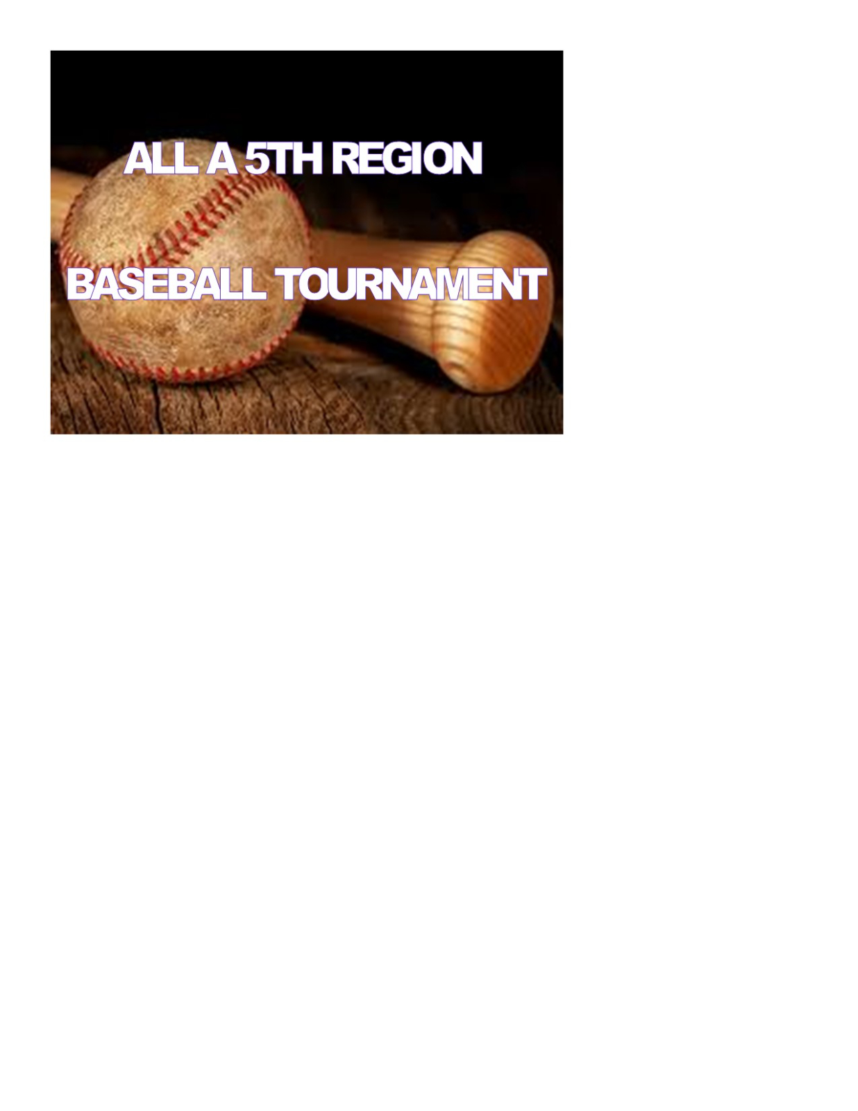 All A Baseball Regional Tournament @ CHS