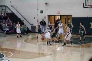 Varsity Girls Basketball in action!