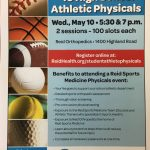2017-2018 Athletic Physical Information and Information Regarding Reid Physical Night