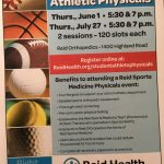 Reminder:  Last Reid Physical Night, July 27 at 5:30 pm and 7 pm