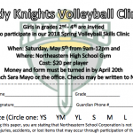 Volleyball Youth Clinic for Grades 2nd-4th