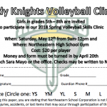Volleyball Youth Clinic for Grades 5th-8th