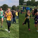 Caylor Fisher and Emma Carr compete at Cross Country Regional