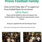 Annual Lift-a-thon This Friday at 7:30 p.m.