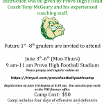 Youth Football Camp Set for June 3-6